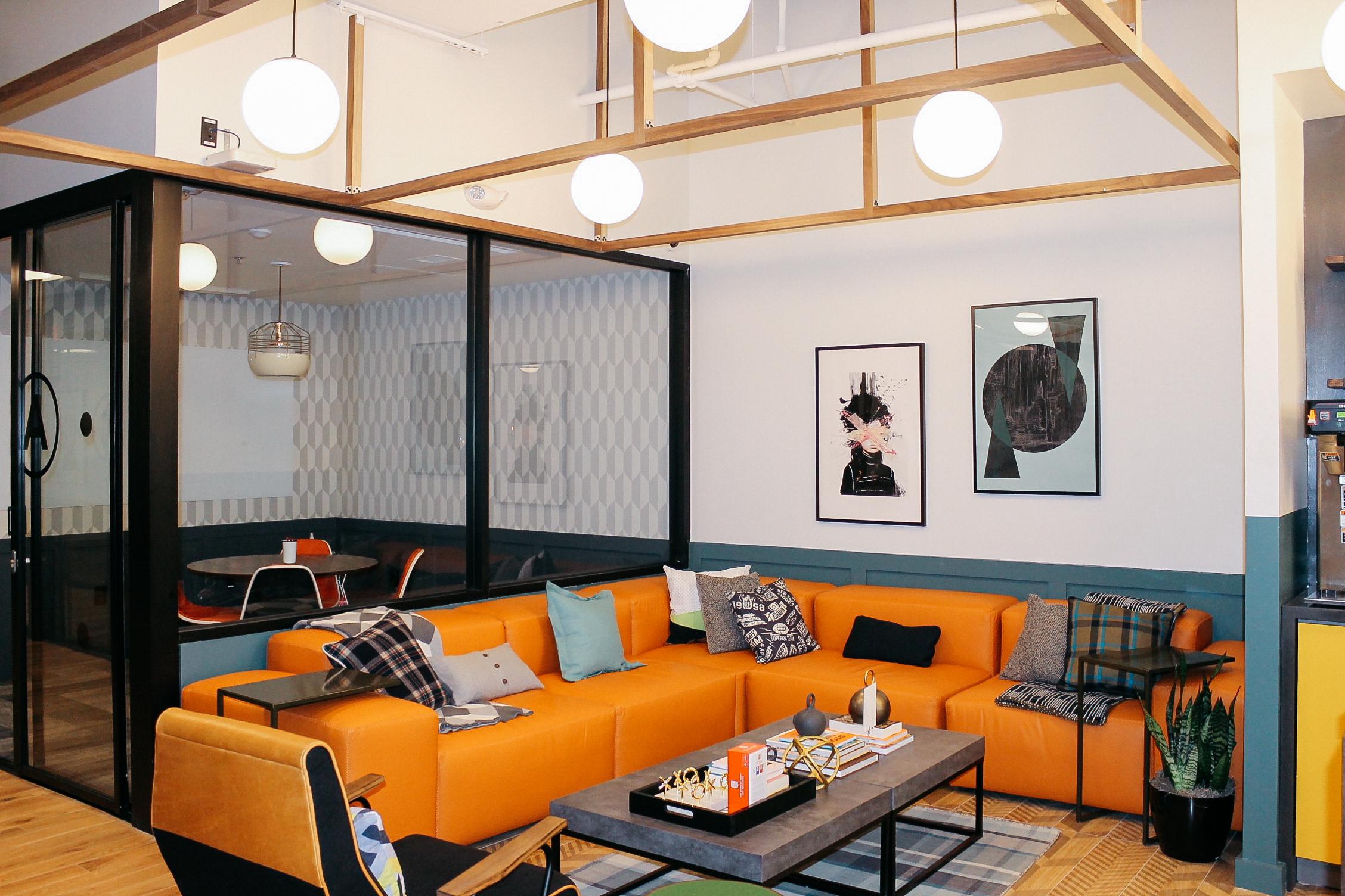 Office Living Room Shared Office Space Buckhead Atlanta Wework