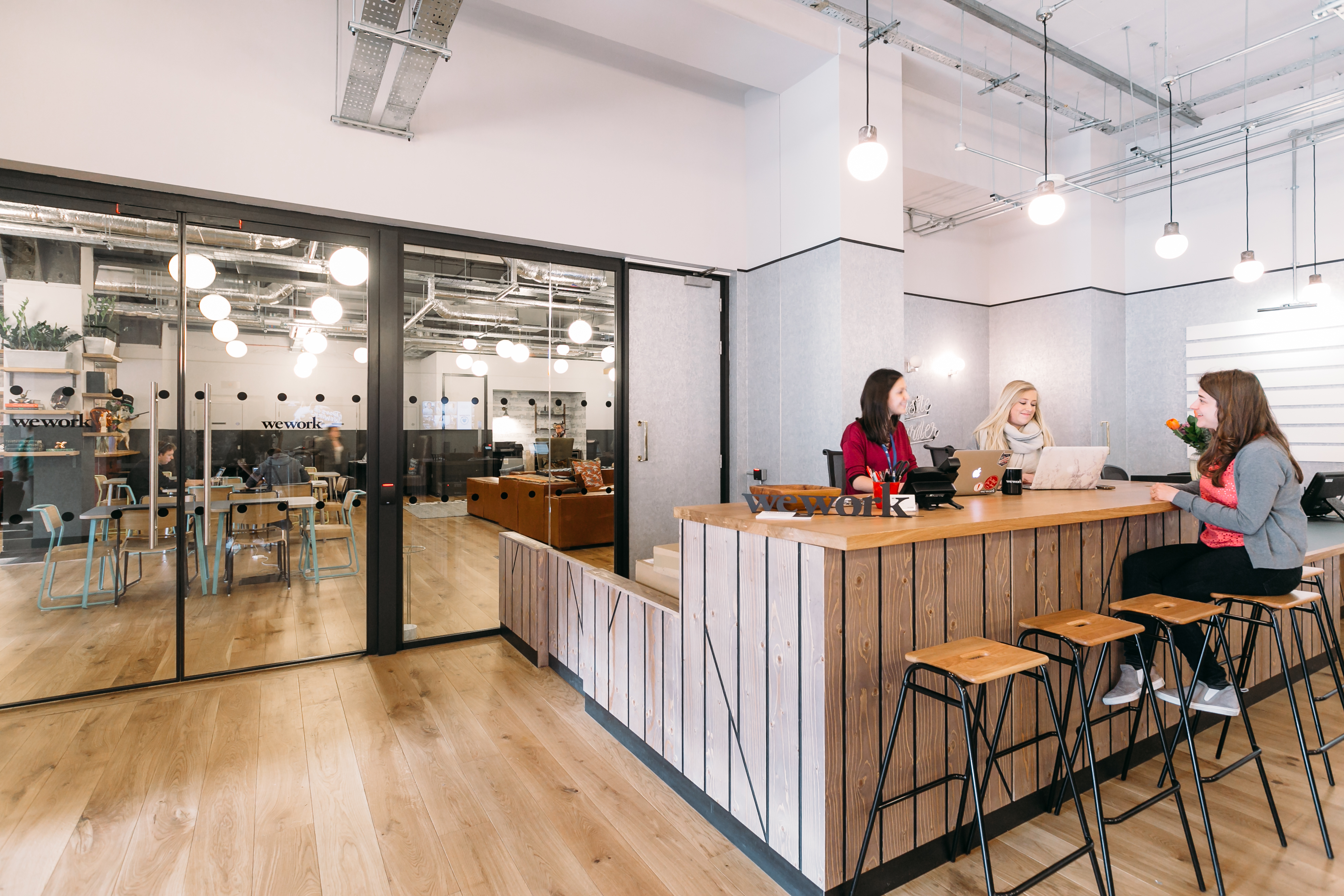 Pleasant Fidi Coworking Office Space Wework New York City Lamtechconsult Wood Chair Design Ideas Lamtechconsultcom